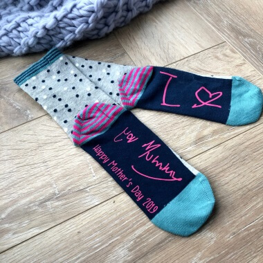 Personalised Handwriting Mother's Day Socks