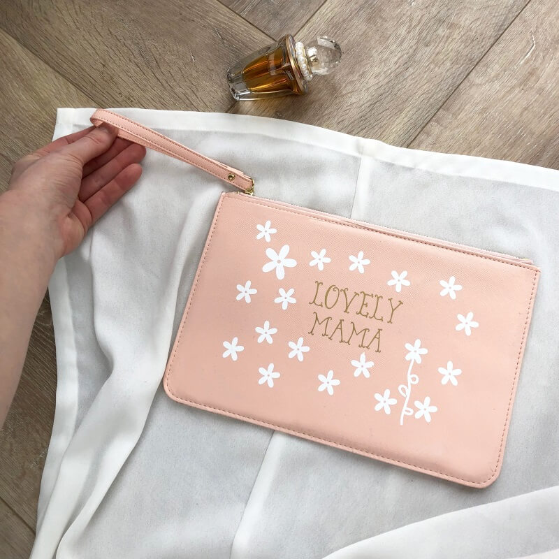 Personalised Daisy Clutch Bag