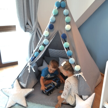 Children's TeePee Tent with Cushion