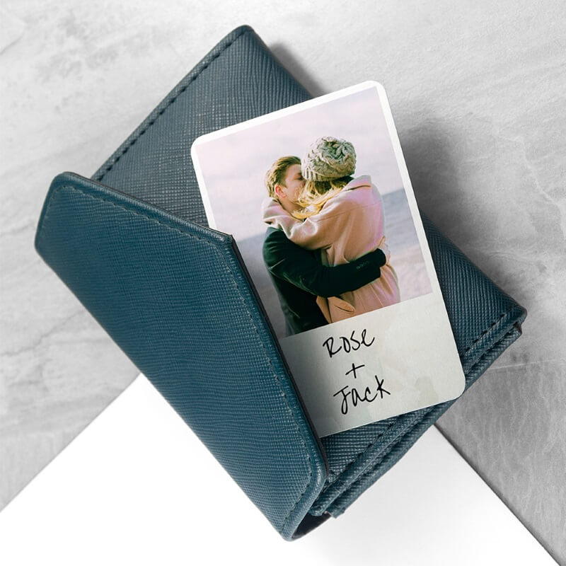 Personalised Metal Wallet Keepsake