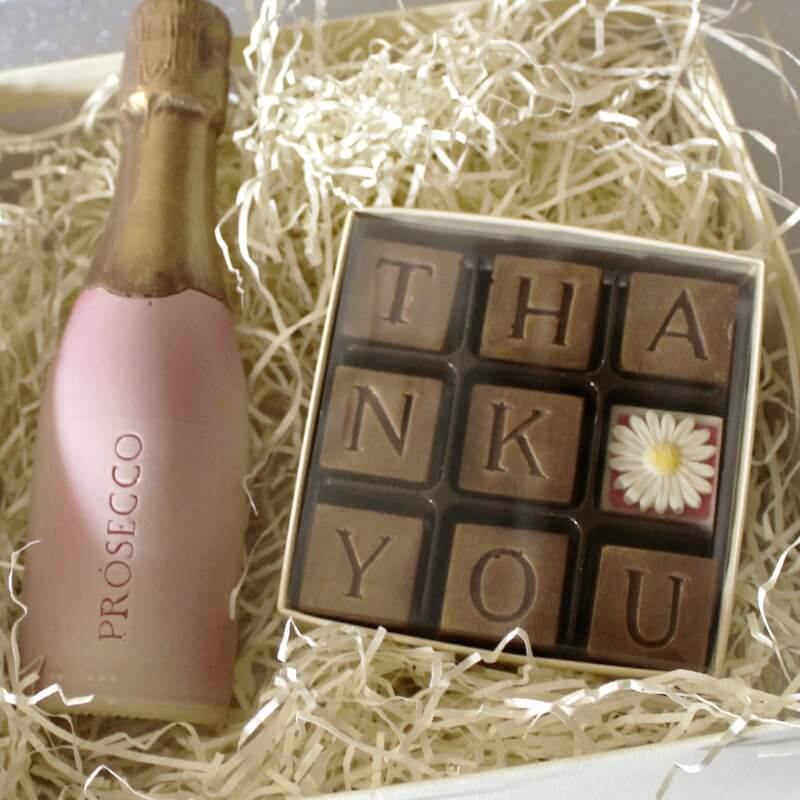 Thank You & Prosecco Chocolates