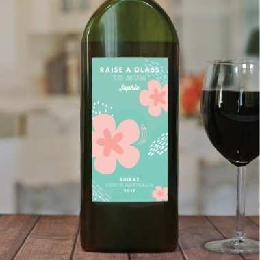 Personalised Letterbox Red Wine for Mums