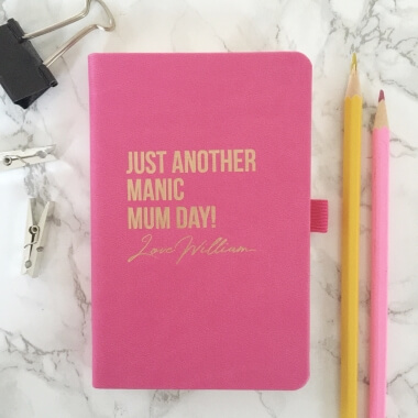 Personalised Manic Mum Day Notebook