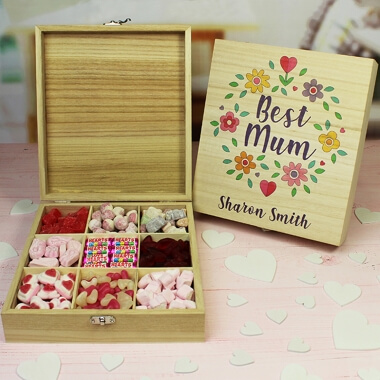 Personalised Mother's Day Wooden Sweet Box
