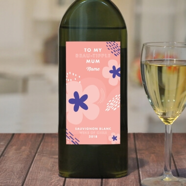 Personalised Letterbox White Wine for Mum