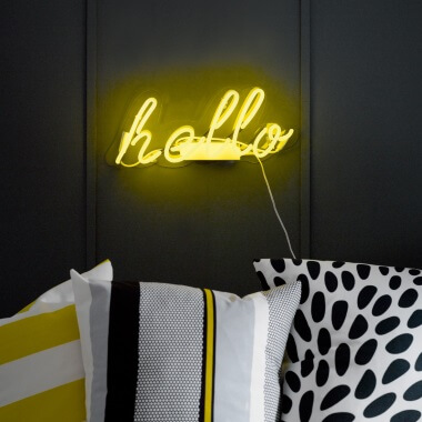 Hello Yellow Neon Light