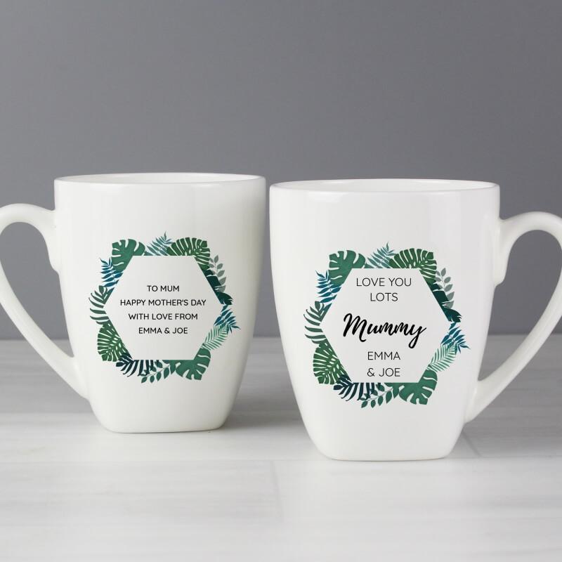 Personalised Tropical Latte Mug