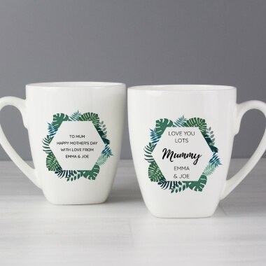 Personalised Tropical Latte Mug