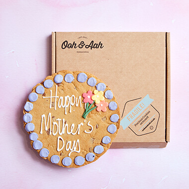 Happy Mother's Day Flower Chocolate Chip Cookie