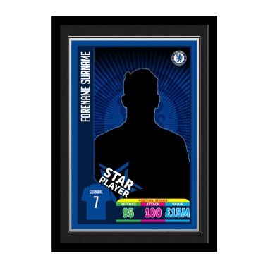 Personalised Chelsea FC Trading Card Framed Print