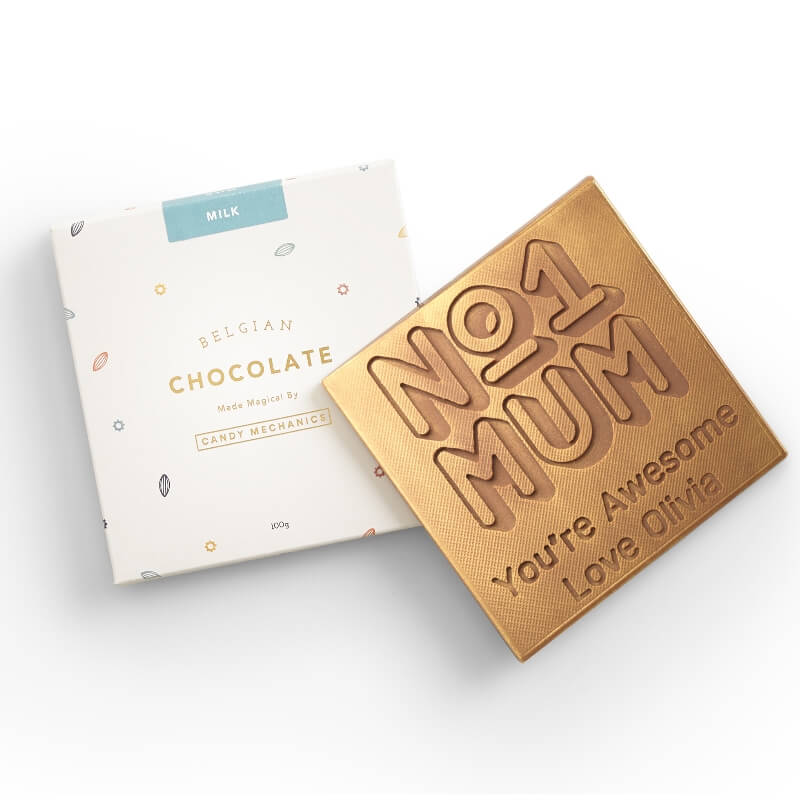 Personalised No.1 Mum Chocolate Card