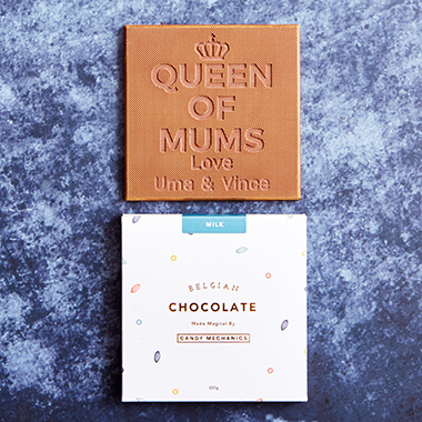 Personalised Queen of Mums Chocolate Card