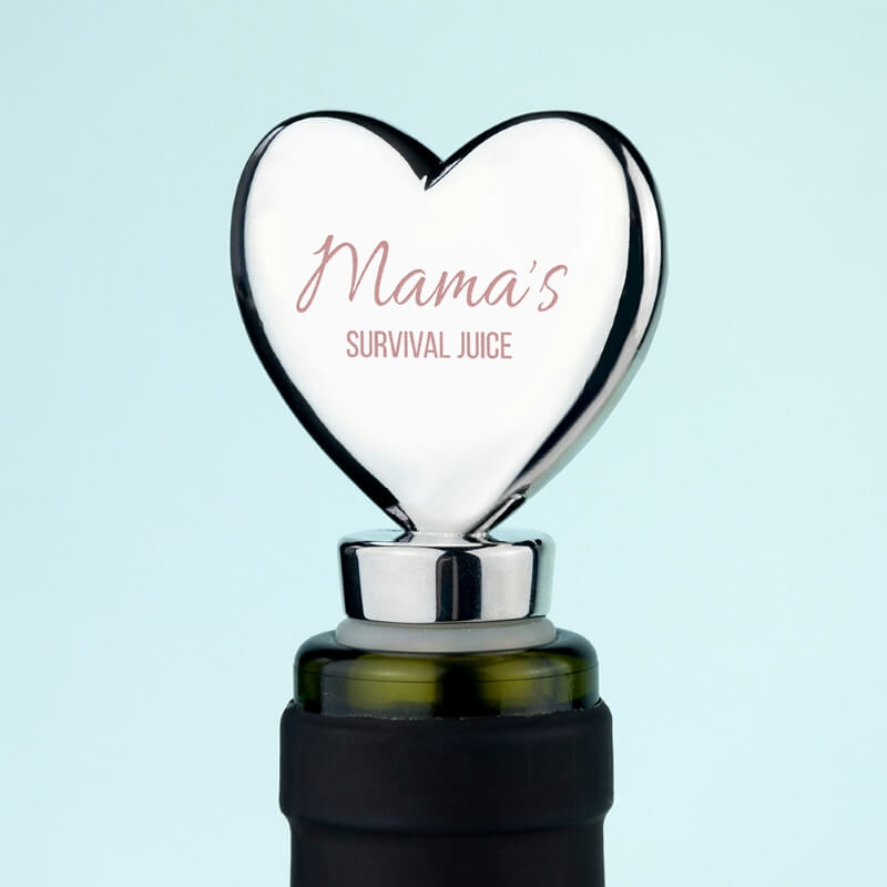 Personalised Mama's Survival Juice Bottle Stopper