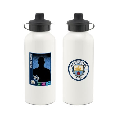 Personalised Manchester City FC Trading Card Aluminium Water Bottle