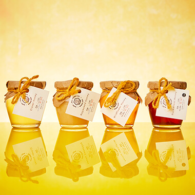 Miod Raw Honey Wooden Gift Box - Your Own Selection Of 4