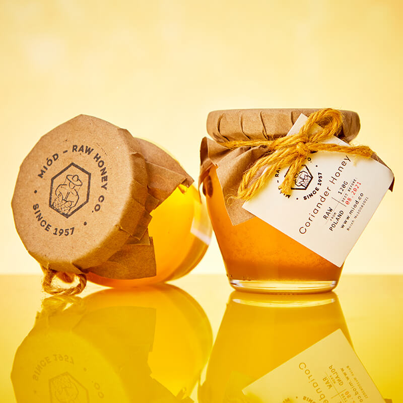 Miod Raw Honey Wooden Gift Box - Your Own Selection Of 2