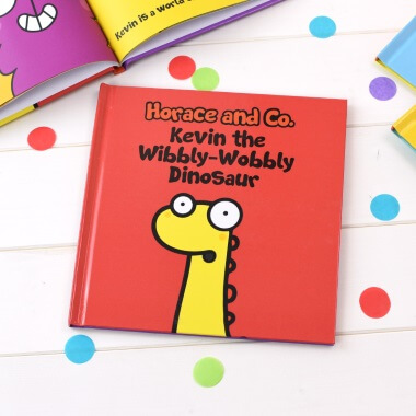 Personalised Flossy and Jim The Wibbley-Wobbley Dinosaur