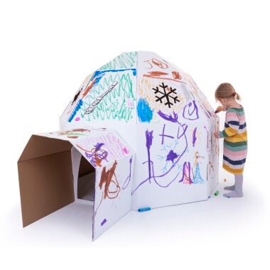 Cardboard Igloo - White