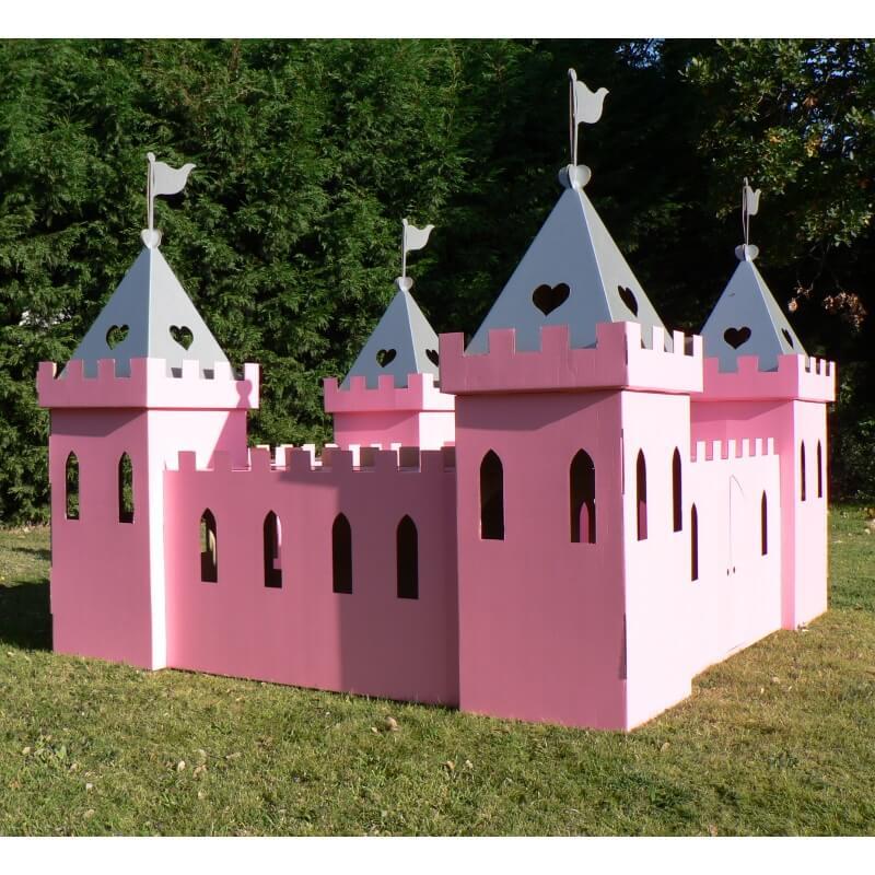 Large Cardboard Princess Palace - Pink and Silver