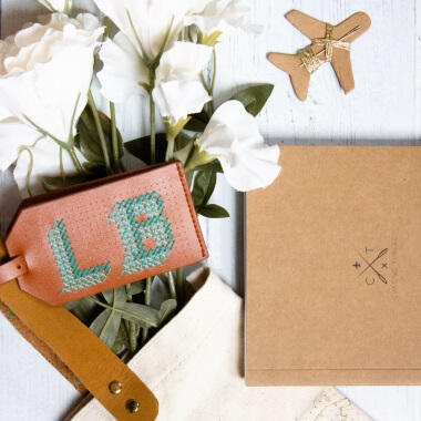 Stitch Your Own Luggage Tag Brown