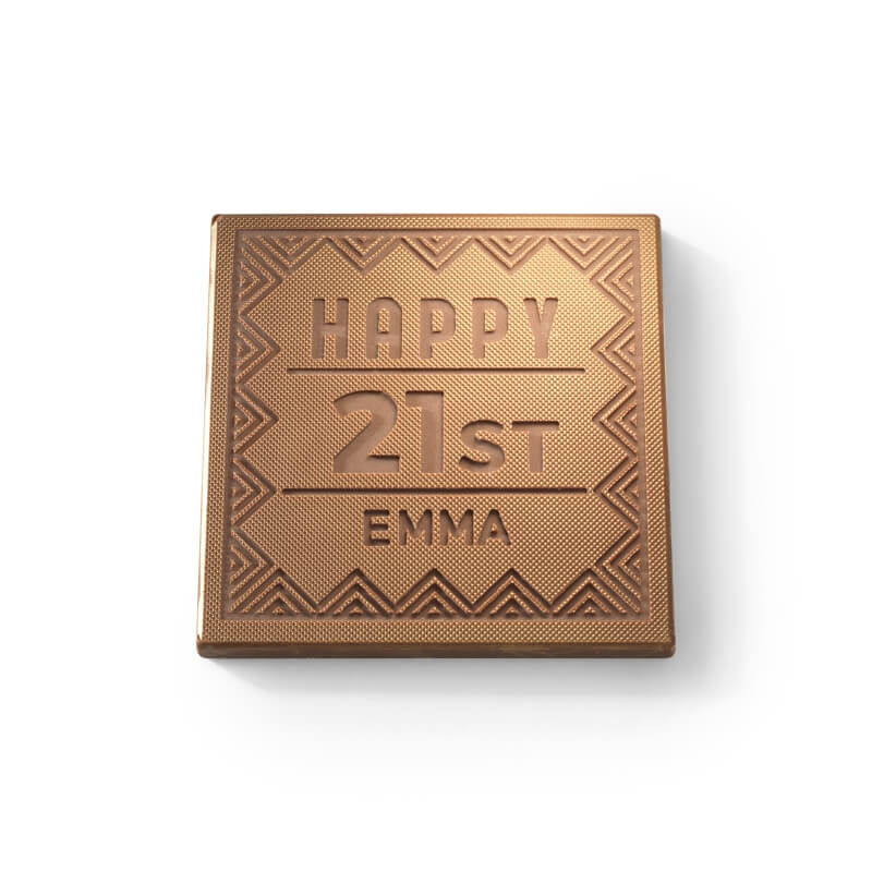 Personalised Any Number Birthday Chocolate Card