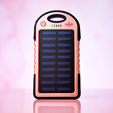 Solar Power Beam Bank - Rose Gold