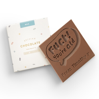 Personalised You're Old Chocolate Card