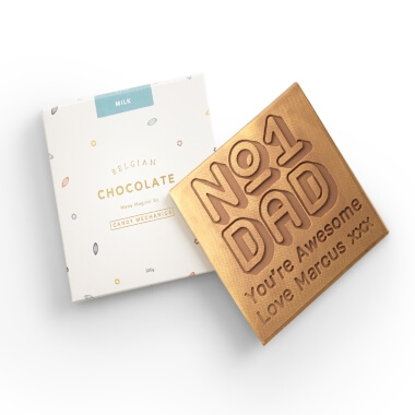 Personalised No.1 Dad Chocolate Card