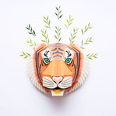 Build a Majestic Tiger Head