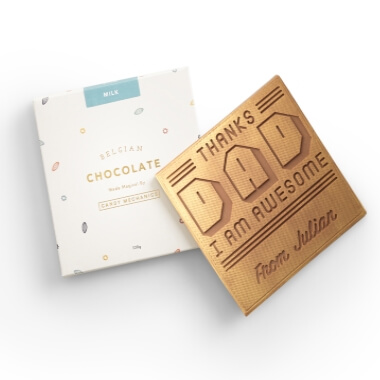 Personalised Thanks Dad Chocolate Card
