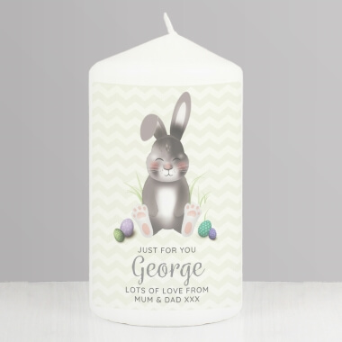 Personalised Easter Bunny Candle