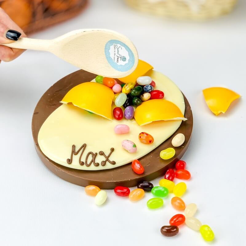 Personalised Smash Chocolate Egg And Beans