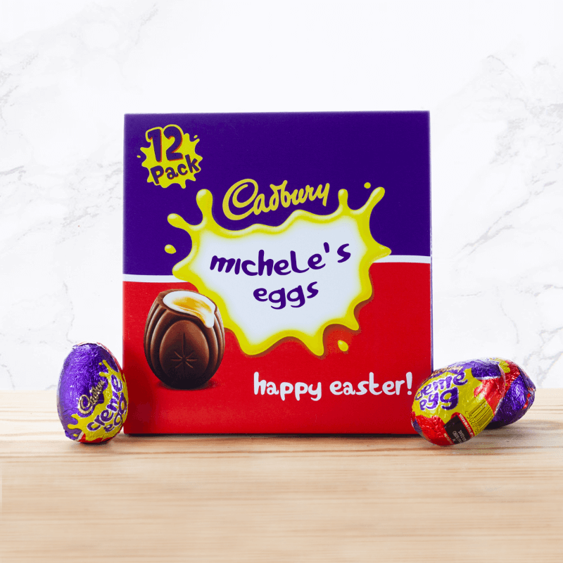 Personalised Cadbury Creme Egg 12 Pack