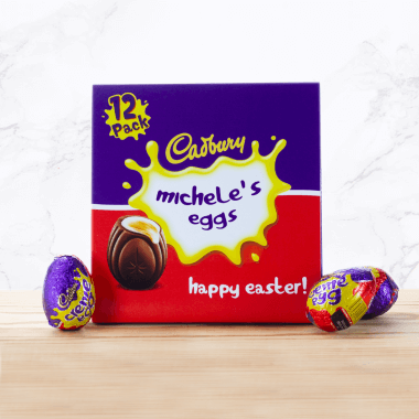 Personalised Cadbury Creme Egg 12 Pack