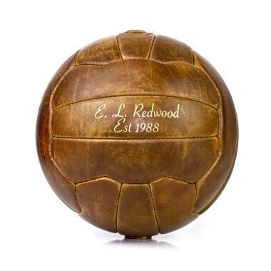 Personalised Vintage Leather Football