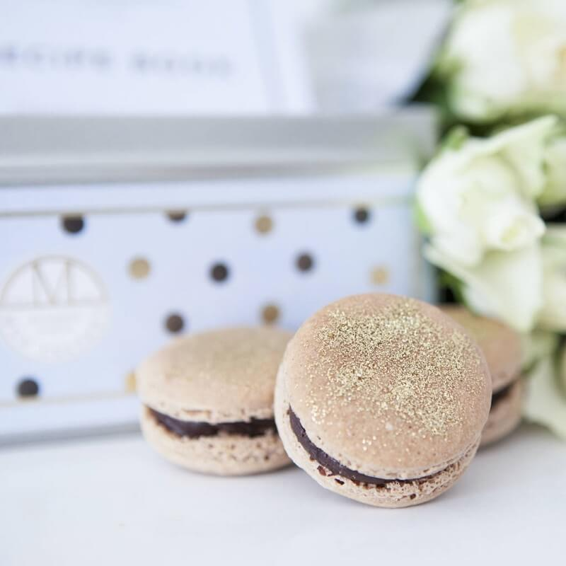 Macaron Making Kit - Chocolat Noir And Gold Dust