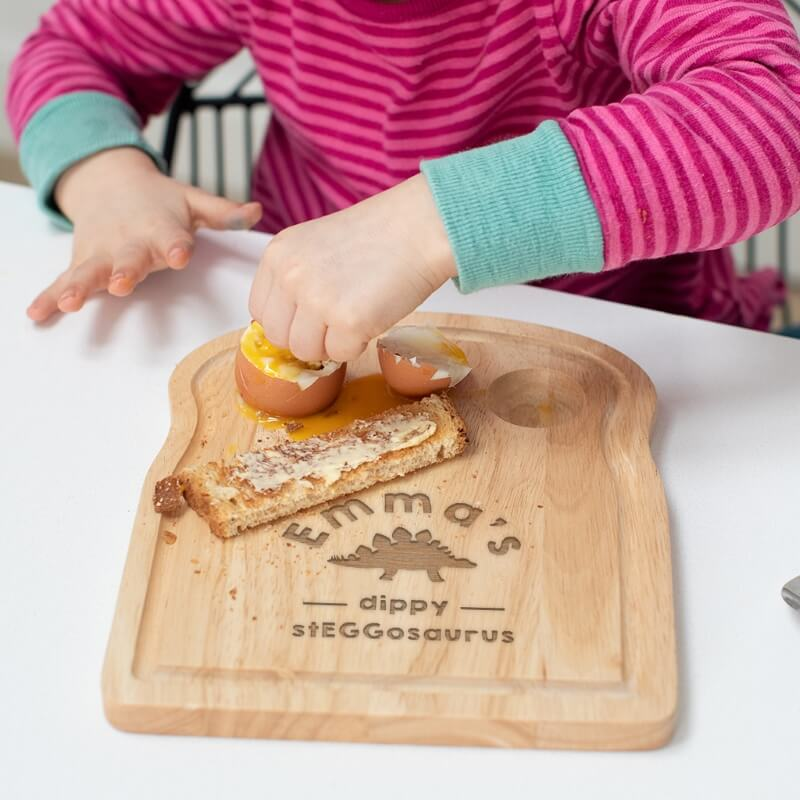 Personalised Dinosaur Egg and Toast Board