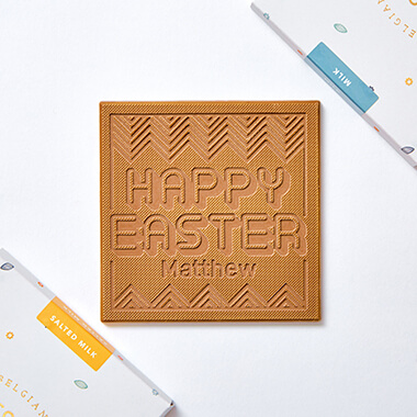 Personalised Happy Easter Chocolate Card
