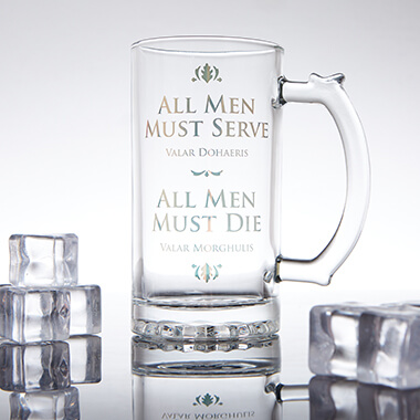 Game of Throne Glass Tankard - All Men