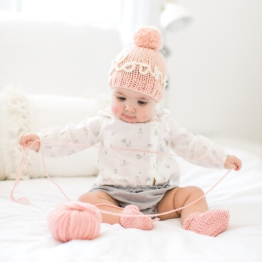 Knit Your Own Baby Name Hat - Pink