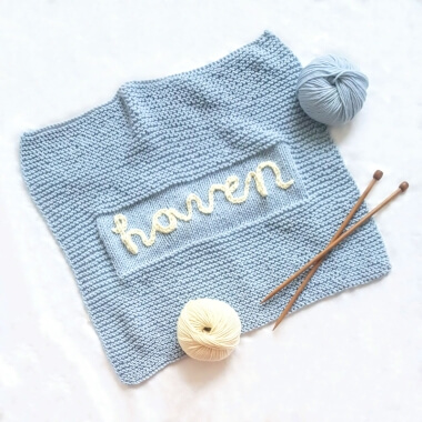 Knit Your Own Baby Name Blanket - Blue