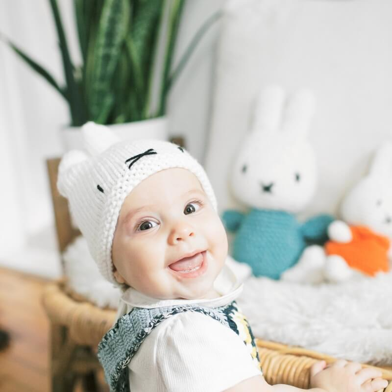 Miffy Baby Hat Knit Kit