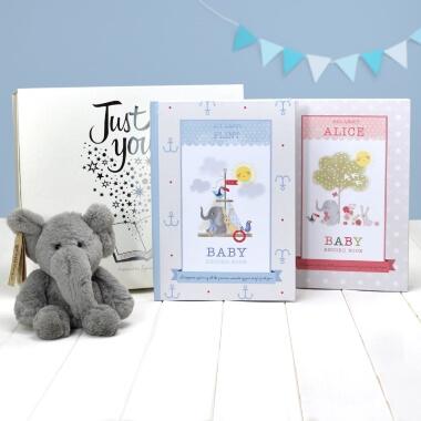 Personalised Elephant Book and Plush Toy Gift Set