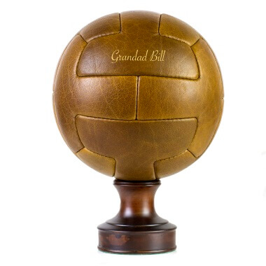 Personalised Vintage Leather Football - T-Panel