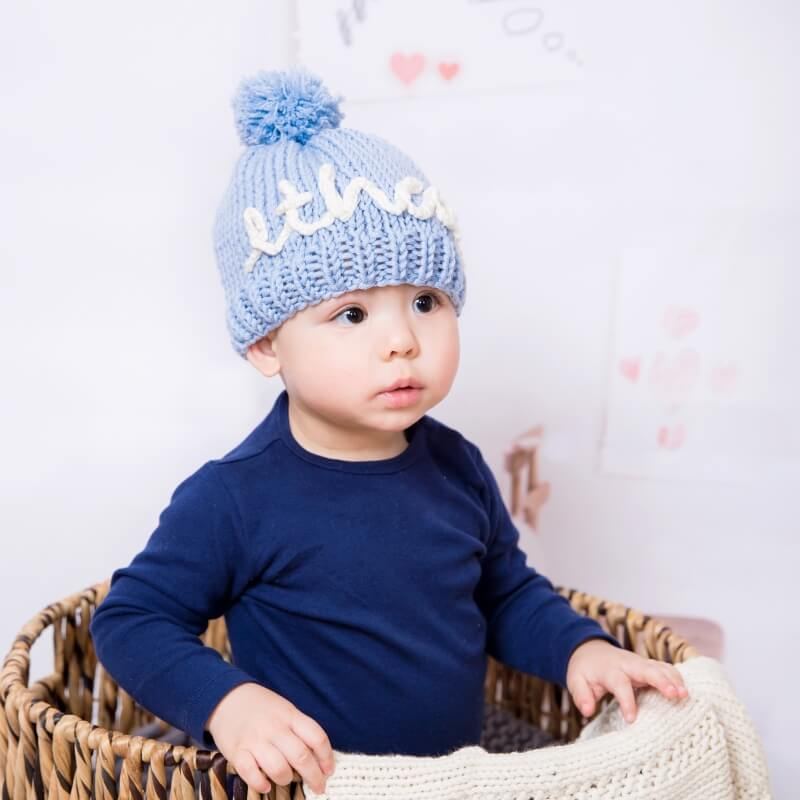 Knit Your Own Baby Name Hat - Blue