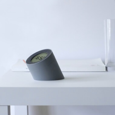 Gingko Edge Light Alarm Clock - Grey