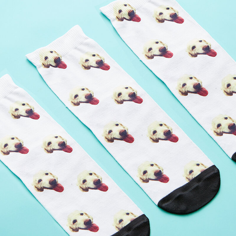 Personalised Dog on Children's Socks