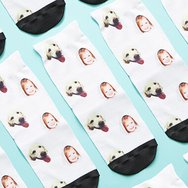 Personalised Kids Dog on Socks