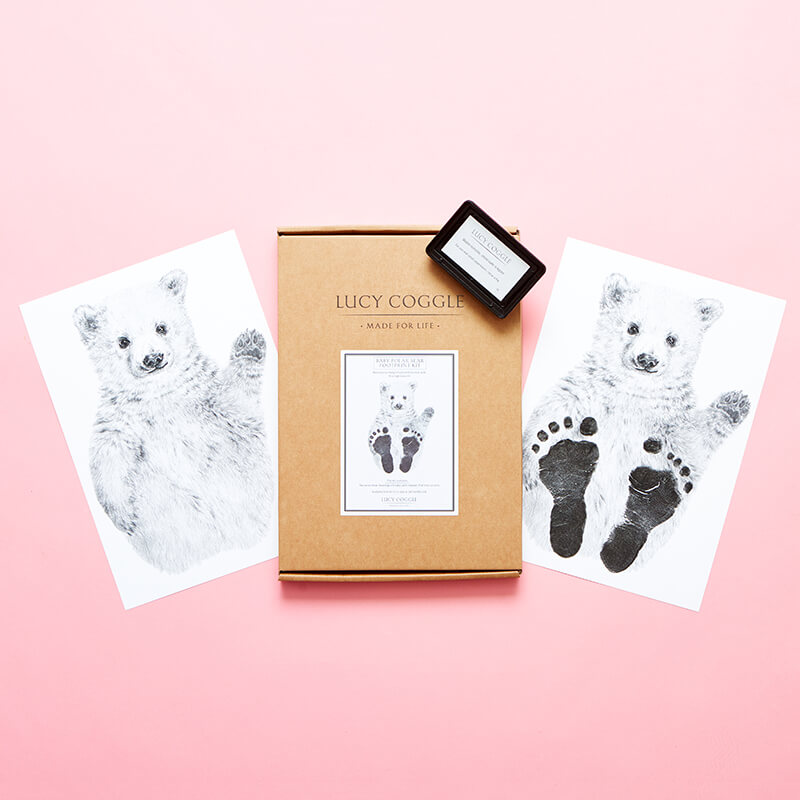 Baby Polar Bear Footprint Kit