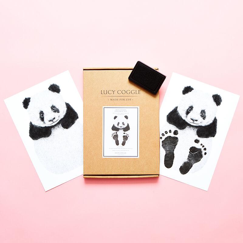 Baby Panda Bear Footprint Kit